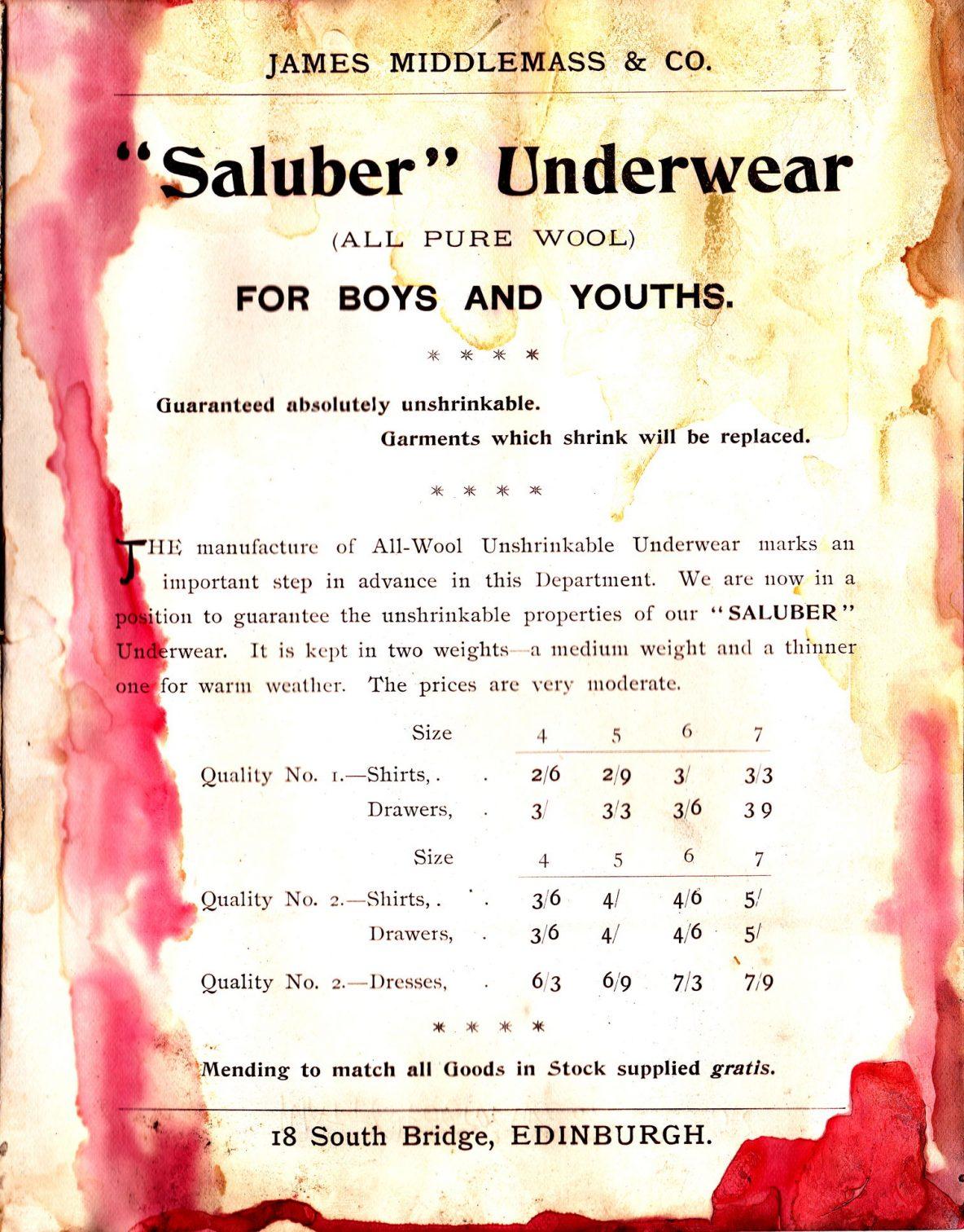 """""""Saluber"""" Underwear"""