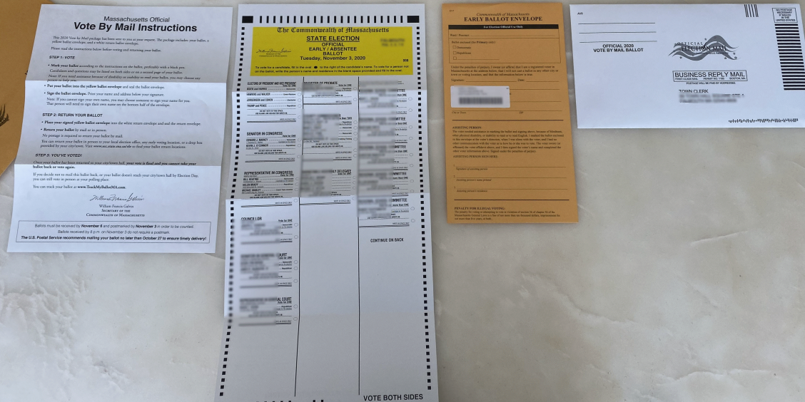 Postal voting materials